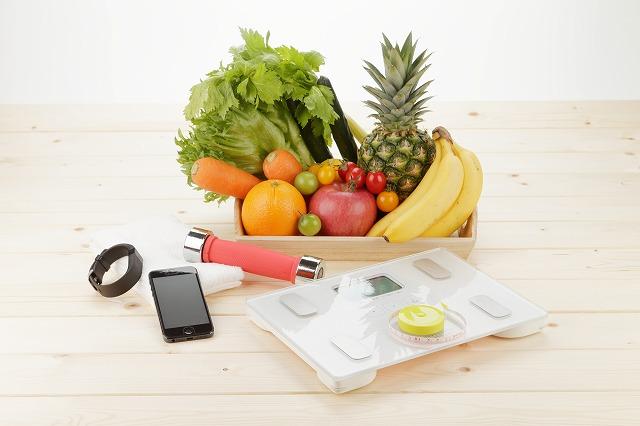 ヘルスメーターと食事、運動
