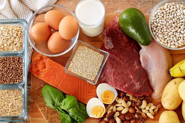 たんぱく質源となる食材