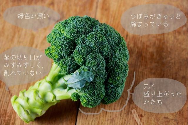 おいしいブロッコリーの特徴