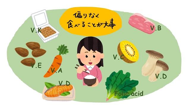 ビタミン摂取にはバランスのとれた食事が一番