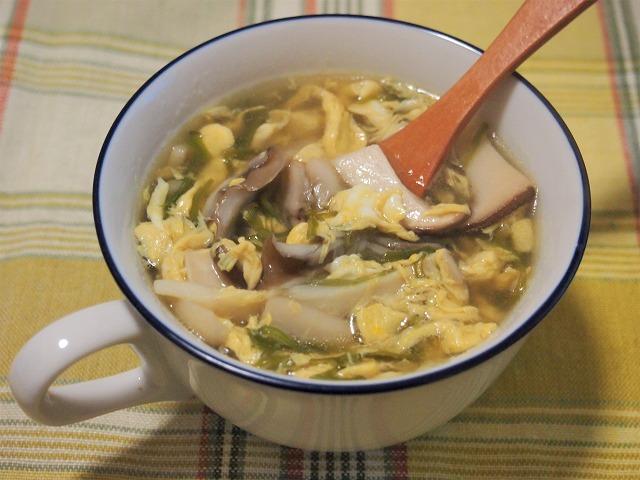 めかぶときのこのスープ