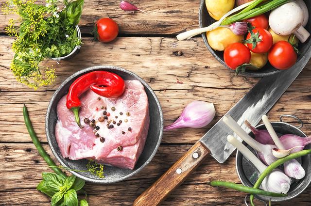 豚肉と野菜の組み合わせ