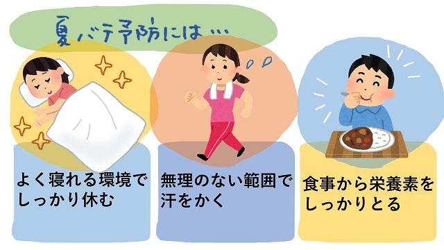 夏バテ予防の生活習慣