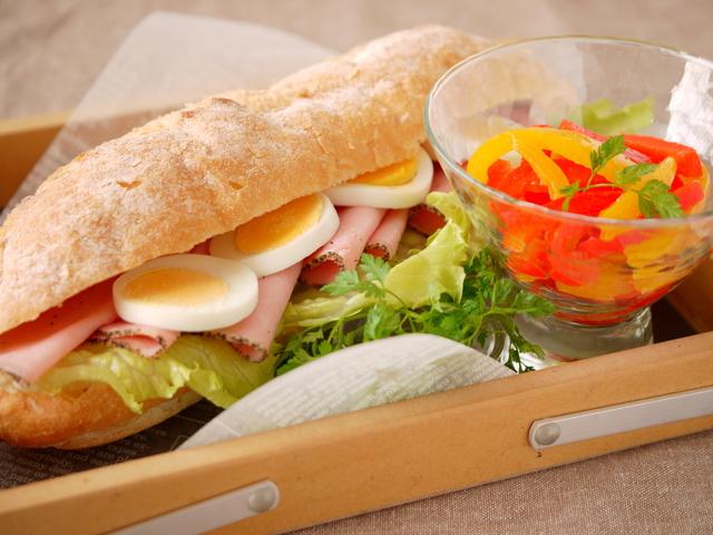 たんぱく質・ビタミンが取れるサンドイッチのセット