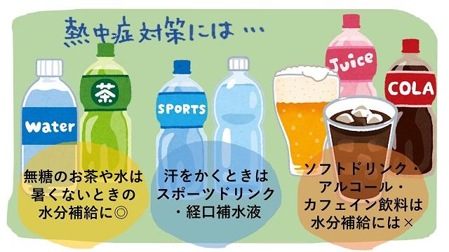 水分補給のための飲み物の選び方