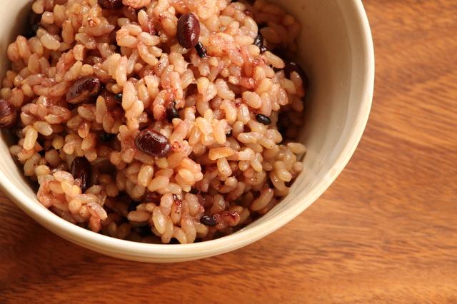 小豆入りの玄米ご飯